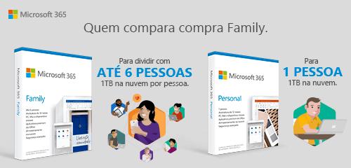 Microsoft 365: Quem compara compra Family