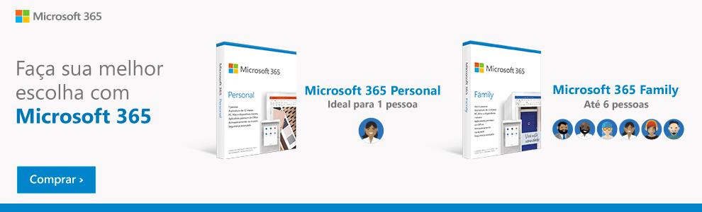 Faça sua Melhor Escolha com Microsoft 365