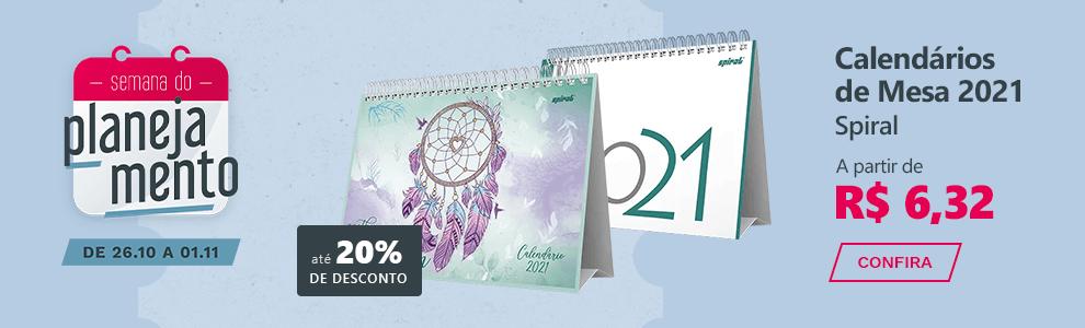 Calendários de Mesa 2021 Spiral a partir de R$ 6,32