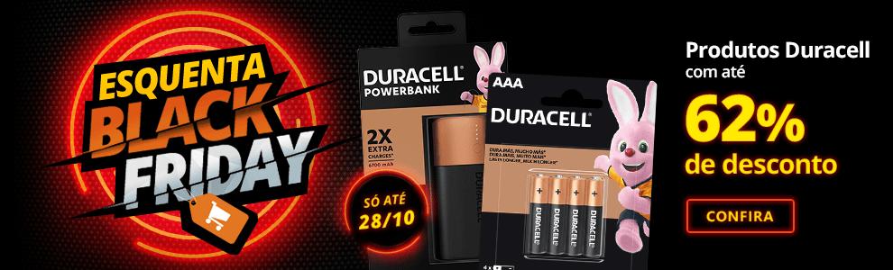 Esquenta Black Friday: produtos Duracell com até 62% de desconto!