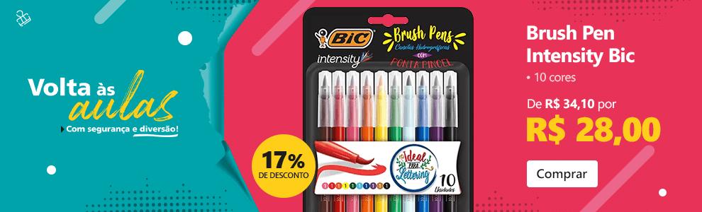 Caneta pincel Brush Pen 10 cores Intensity 970909 Bic com 17% de desconto