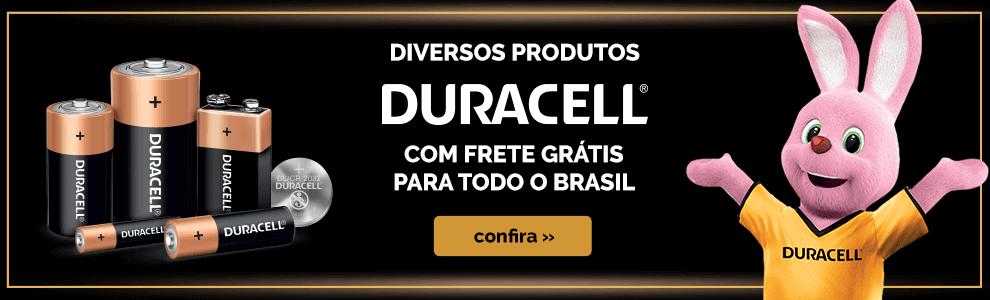 Diversos produtos Duracell com Frete Grátis para todo o Brasil