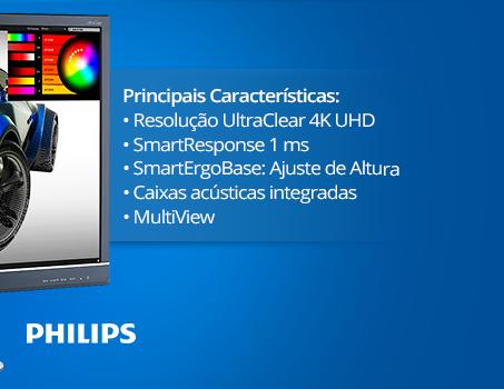 Monitor LED 28'' widescreen 4K 288P6LIEB Philips CX 1 UN