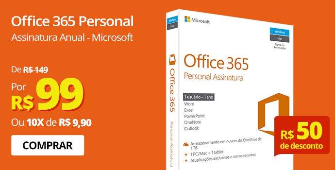 Office 365 Personal Assinatura Anual Microsoft