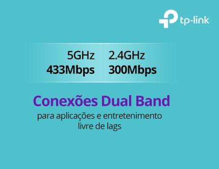 Roteador wireless 4 portas Dual Band AC750 C20 TP-Link