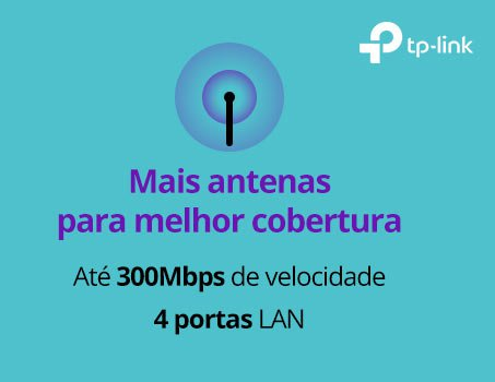 Roteador wireless 4 portas 300mbps WR845N TP-Link