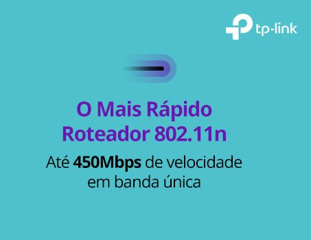 Roteador wireless 4 portas 450mbps TL-WR940N TP-Link