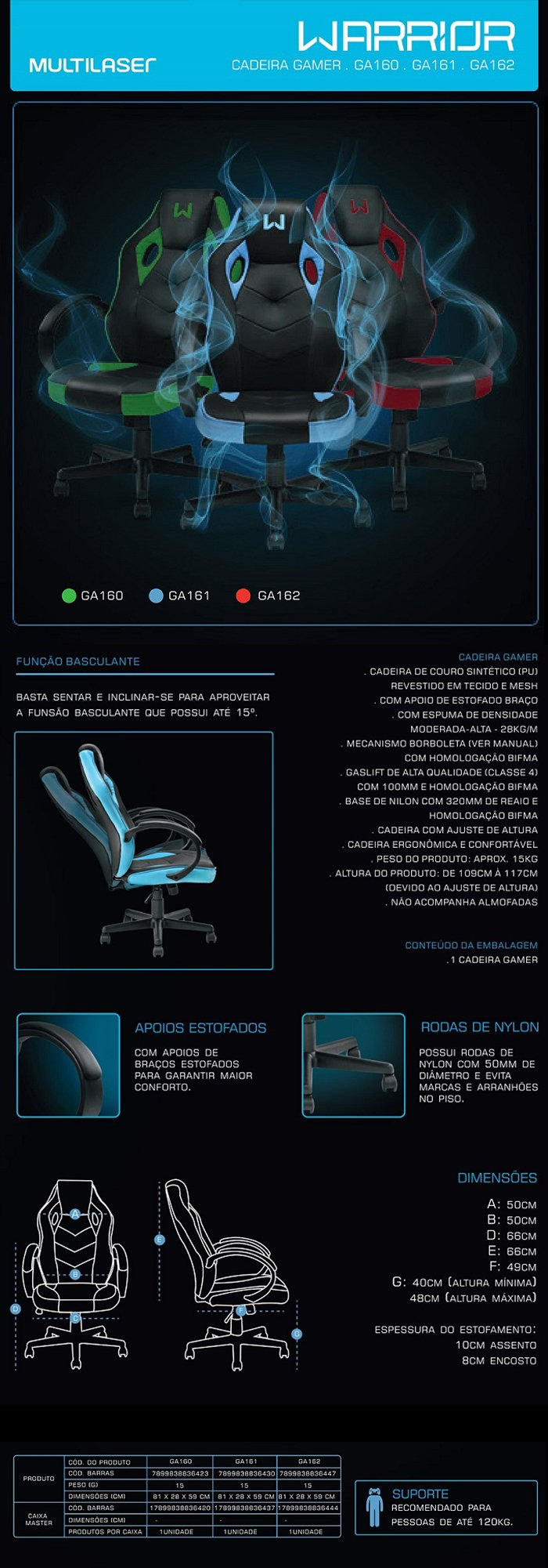 Cadeira Gamer Tongea Warrior